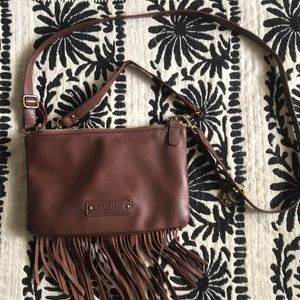 Lucky Brand Leather Crossbody fringed bag